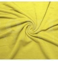 French Terry Polyester Rayon Spandex Yellow