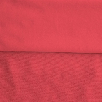 Fleece Polyester Cotton-Neon Coral