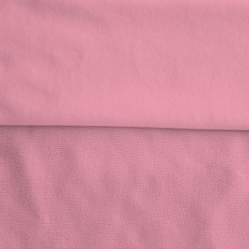 Fleece Polyester Cotton-Pink