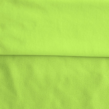 Fleece Polyester Cotton-Lime