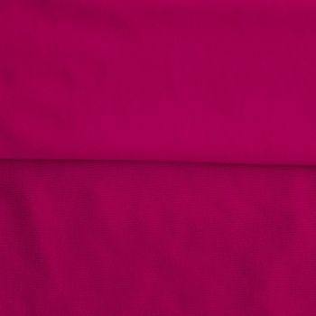 Fleece Polyester Cotton-Fucshia