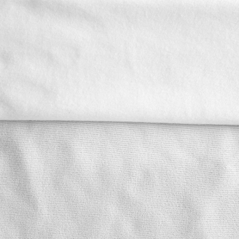 Fleece Polyester Cotton-White