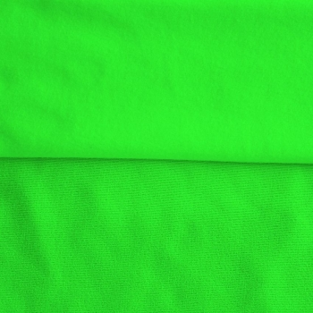 Fleece Polyester Cotton-Neon Green