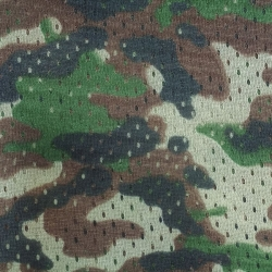 Camouflage Print Football Mesh Brown