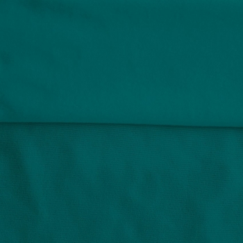 Fleece Polyester Cotton-Teal