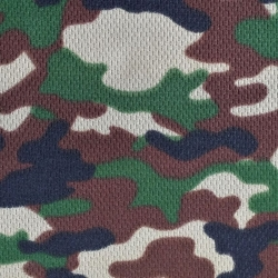 Camouflage Print Dimple Mesh Brown