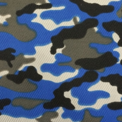 Camouflage Print Dimple Mesh Royal