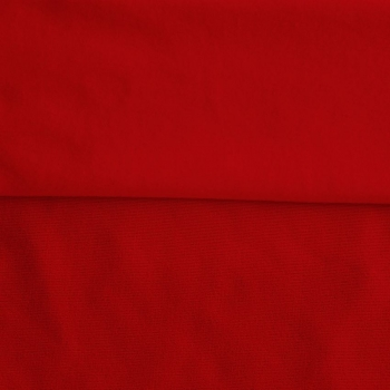 Fleece Polyester Cotton-Red