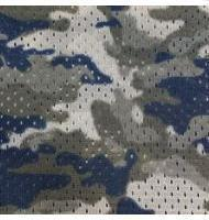 Camouflage Print Football Mesh Navy
