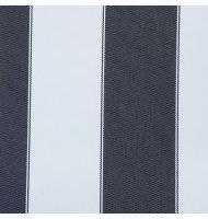 Outdoor Fabric 2'' stripe- Black, White