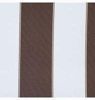 Outdoor Fabric 2'' stripe- Brown, White