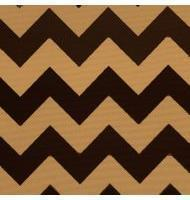 Outdoor Fabric Chevron-Brown,Beige