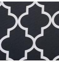 Outdoor Fabric Moroccan-Black